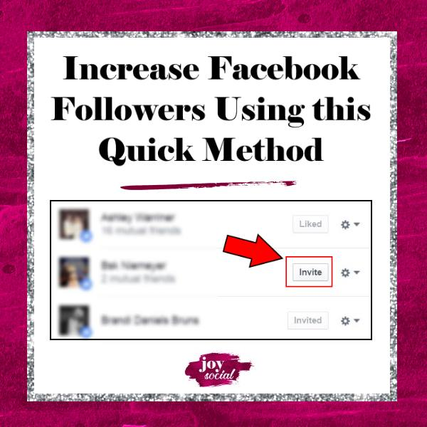 Increase Facebook Followers Using this Quick Method
